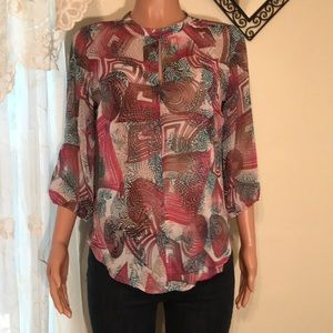 Luisa collection sheer blouse